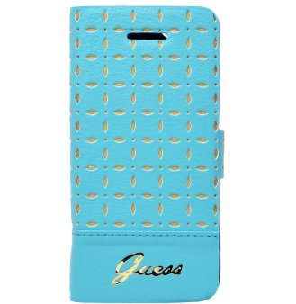 Чехол Guess GIANINA Booktype для iPhone 5/5S Turquoise