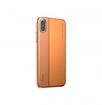 Чехол Baseus Half to Half Case для iPhone X, золотой