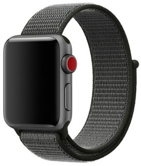 Ремешок COTEetCI W17 для часов Apple Watch Magic Tape 42-44мм серый